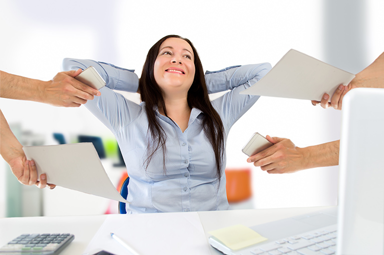 Adult able to handle stress at work